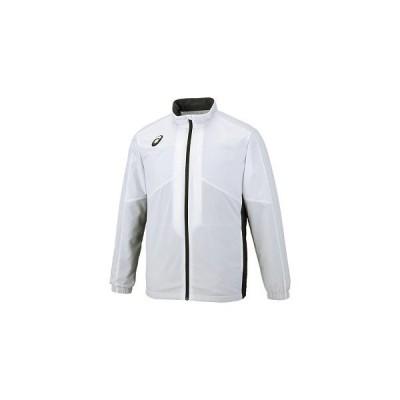 ◎アシックス(asics) 裏トリコットブレーカージャケット(切替) 2031A235-100 100:Bホワイト 2XL