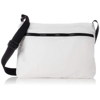 ヒッチハイクマーケットバッグ 薄手ポリエステルショルダーバッグ L ホワイト