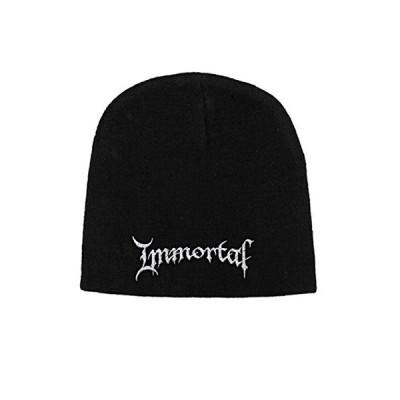 Immortal ビーニーハット Cap Classic Band Logo 公式 新しい ブラック