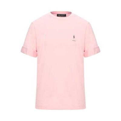 ニール・バレット NEIL BARRETT T シャツ ピンク XS コットン 100% / ナイロン / ポリウレタン T シャツ