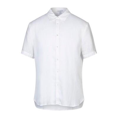 ジェームス・パース JAMES PERSE シャツ ホワイト 2 リネン 100% シャツ