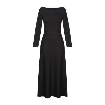 アルファスタジオ ALPHA STUDIO 7分丈ワンピース・ドレス ブラック 46 レーヨン 65% / ナイロン 35% 7分丈ワンピース・ドレス