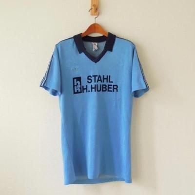 アディダス ヴィンテージ サッカーシャツ 西ドイツ製 ブルー M(mw-323)