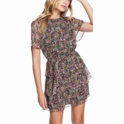 ワンステート 1.STATE レディース ワンピース ティアードドレス ワンピース・ドレス Short Sleeve Forest Gardens Tiered Dress Rich Bla