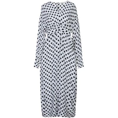 MAJE 7分丈ワンピース・ドレス ホワイト 2 キュプラ 100% 7分丈ワンピース・ドレス