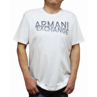 アルマーニ エクスチェンジ ARMANI EXCHANGE 半袖Tシャツ  白 黒 8NZTNQ メンズ ホワイト ブラック 夏物