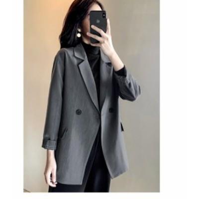 スーツジャケット 韓国風 テーラードジャケット レディース 20代 30代 40代 おしゃれ きれいめ 長袖 アウター 卒業式 面接 着痩せ カジュ