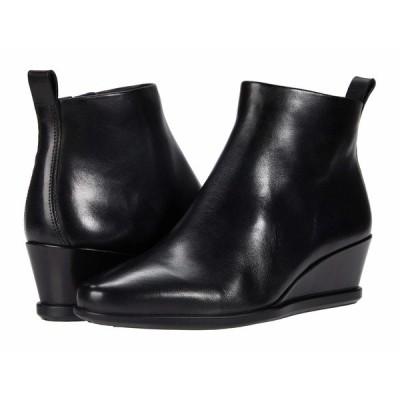 エコー ブーツ&レインブーツ シューズ レディース Shape 45 Wedge Ankle Boot Black Cow Leather