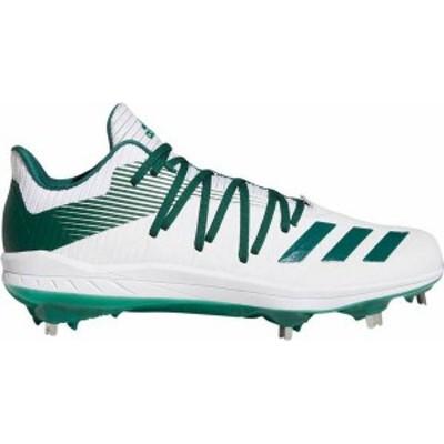 アディダス メンズ スニーカー シューズ adidas Men's adizero Afterburner 6 Metal Baseball Cleats White/Green