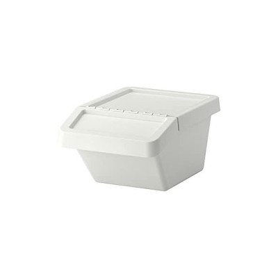 IKEA SORTERA 37L 90255898 分別ゴミ箱 ふた付、ホワイト