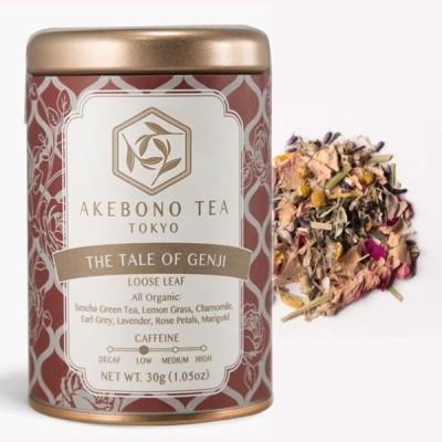テイル オブ ゲンジ 30g 缶 茶葉 オーガニック 有機 低カフェイン 日本茶 緑茶 国産 静岡 煎茶 ハーブティー 紅茶 ブランド 高級 おしゃれ かわいい ギフト