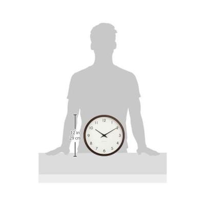 レムノス 掛け時計 カンパーニュ アナログ 電波 木枠 茶 PC10-24W BW Lemnos