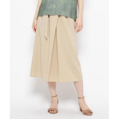 WORLD ONLINE STORE SELECT / 【手洗い可】ラップ風ベルテッドスカート WOMEN スカート > スカート