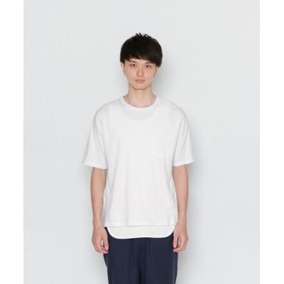 【センスオブプレイス バイ アーバンリサーチ】 タイプライターブロックドTシャツ メンズ ホワイト M SENSE OF PLACE by URBAN RESEARCH