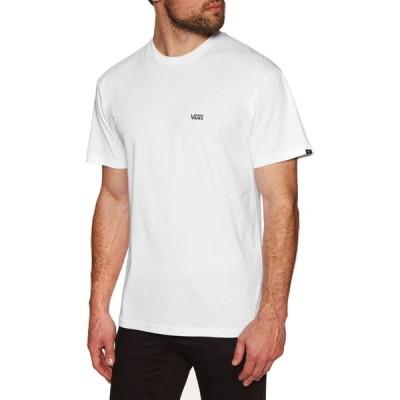 ヴァンズ Vans メンズ Tシャツ トップス left chest logo short sleeve t-shirt White Black