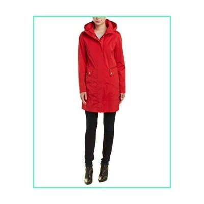 Cole Haan Women's Back Bow Packable Hooded Rain Jacket, RED, Small並行輸入品