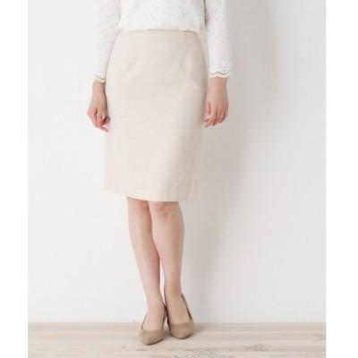 スカート 【洗える・34(SS)、42(LL)WEB限定サイズ】ツイードナロースカート