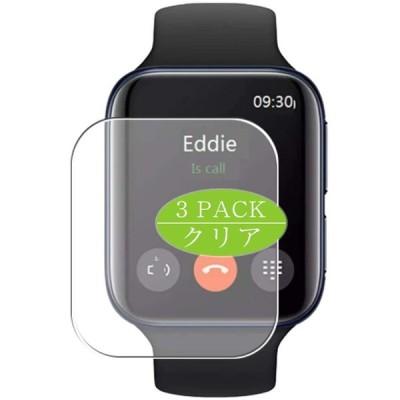 3枚 VacFun フィルム , OPPO WATCH 46MM スマートウォッチ smart watch 向けの 保護フィルム 液晶保護 フィルム