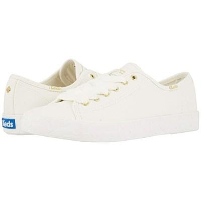 Keds x kate spade new york Kickstart Logo Foxing メンズ スニーカー 靴 シューズ White Canvas