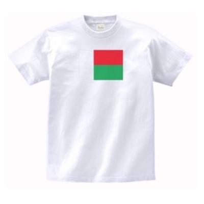 国 国旗 Tシャツ マダガスカル 白