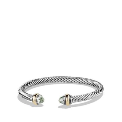 デイビット・ユーマン レディース ブレスレット・バングル・アンクレット アクセサリー Cable Classics Bracelet with Gemstone and Gold
