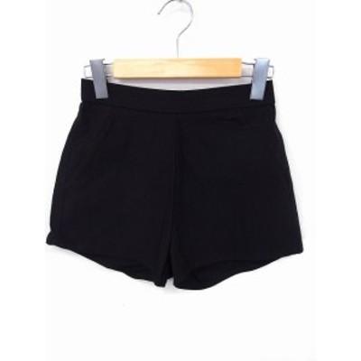 【中古】ムルーア MURUA パンツ ショート 無地 シンプル ゴム 91 1 ブラック 黒 /FT5 レディース