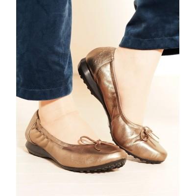 三京商会 / リボン付きバレエシューズレディース靴ボロネーゼ製法 WOMEN シューズ > バレエシューズ