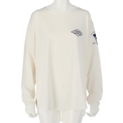 anap mimpi パームツリー刺繍ロングTシャツ(オフホワイト)
