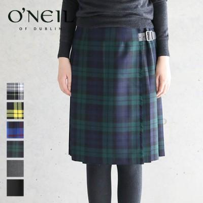 (SALE 30%OFF) オニールオブダブリン O'NEIL OF DUBLIN キルト ラップスカート #124 ウール チェック 巻きスカート 定番 レディース 2020AW