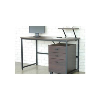 書斎デスク 机 パソコンデスク  幅120cm ワゴン付き