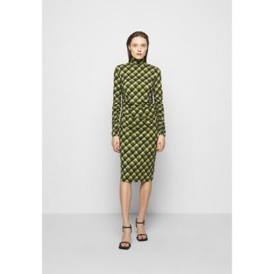 プロエンザ スクーラー ホワイト レーベル ワンピース レディース トップス SHEER DRESS - Jersey dress - olive/black brushed plaid