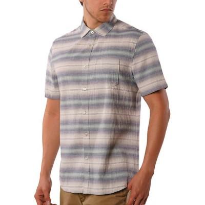 ジェレミア シャツ メンズ トップス Jeremiah Men's Gibson Textured Chambray Stripe SS Shirt Griffin