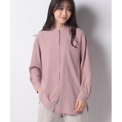 【ルゥデ】 バンドカラーシャツ(0R13-11130) レディース スモーキーピンク M Rewde