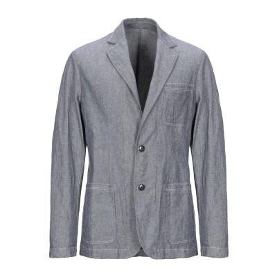 ブルックスフィールド BROOKSFIELD テーラードジャケット ブルー 50 コットン 74% / 麻 24% / ポリウレタン 2% テーラー