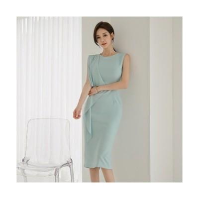 期間限定SALE ワンピース 結婚式 服装 40代 女性 ドレス レディース ファッション 30代 50代 親族 タイト 膝丈 ノースリーブ