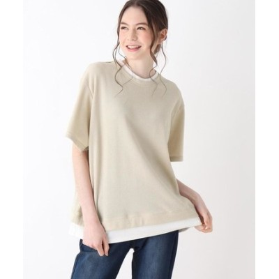 【S-L】ワッフルフェイクTシャツ