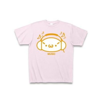 【音楽】シャキーンmusicバージョン2/オレンジ Tシャツ Pure Color Print(ピーチ)