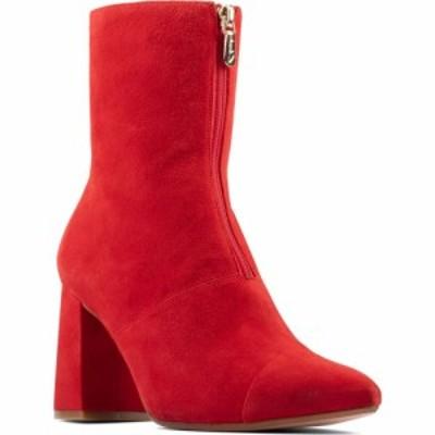 クラークス CLARKS レディース ブーツ シューズ・靴 Laina85 Front Zip Bootie Red Suede