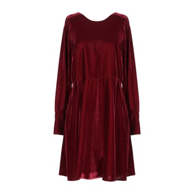KAOS JEANS ミニワンピース&ドレス ボルドー 42 ポリエステル 100% ミニワンピース&ドレス