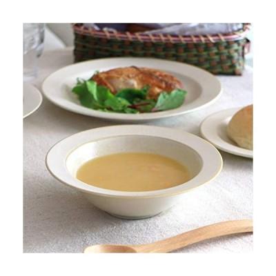 cerapockke窯変クリーム釉 17cmスープボール スープ 中鉢 煮物鉢 深鉢 シリアルボール お皿 シンプル レトロ 窯変 和食器