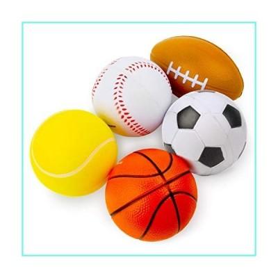 Boley Mini Sports Ball Set - 5 Pack Soft Small Kids Balls to Play - Mini Basketball, Mini Football, and More! Kid and Toddler Playground Bal