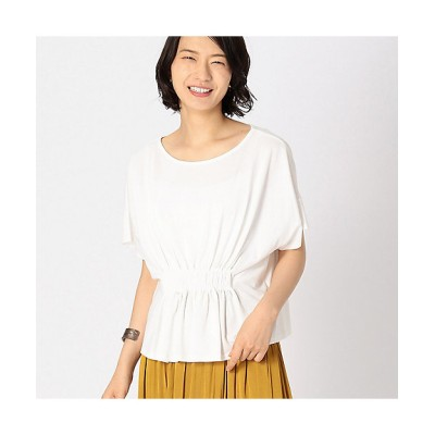 <COMME CA ISM(Women)/コムサ イズム> 《ドライタッチ》2way フロントギャザー カットソー(1268CL27) 01【三越伊勢丹/公式】