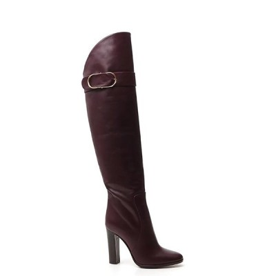 ドルチェ&ガッバーナ レディース ブーツ&レインブーツ シューズ Dolce & Gabbana Buckle Detail Block Heel Boots -
