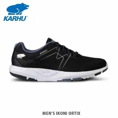 KARHU カルフ イコニOrtix ジェットブラック/フォークストーングレー メンズ スニーカー ランニングシューズ  KH100288