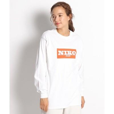 tシャツ Tシャツ niko and ...JEANSボックスロゴロンT