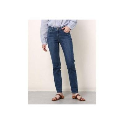 ゲス GUESS Slim Straight Denim Pants (DARK BLUE)