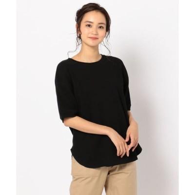 tシャツ Tシャツ 半袖ワッフルプルオーバーカットソー
