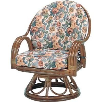 籐回転座椅子 ミドルハイタイプ/H28S583B【送料無料】(座椅子、リラックスチェア、パーソナルチェアー、チェア)