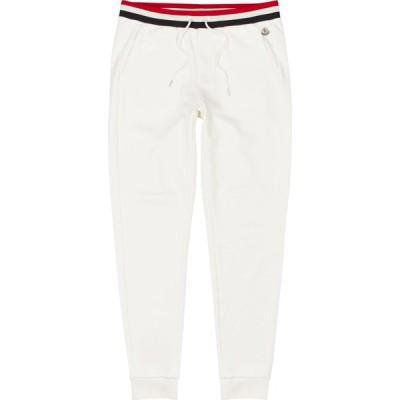 モンクレール Moncler メンズ スウェット・ジャージ ボトムス・パンツ Off-White Cotton Sweatpants White