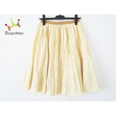 ドゥーズィエム DEUXIEME CLASSE スカート サイズ36 S レディース オレンジ×白 チェック柄     スペシャル特価 20200509